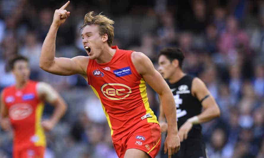 Tom Lynch playing for Gold Coast Suns