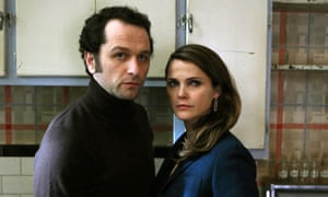 Matthew Rhys, left, and Keri Russell in The Americans, a show you might actually really need right now.