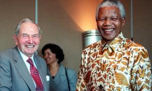 David Rockefeller with Nelson Mandela in 1998.