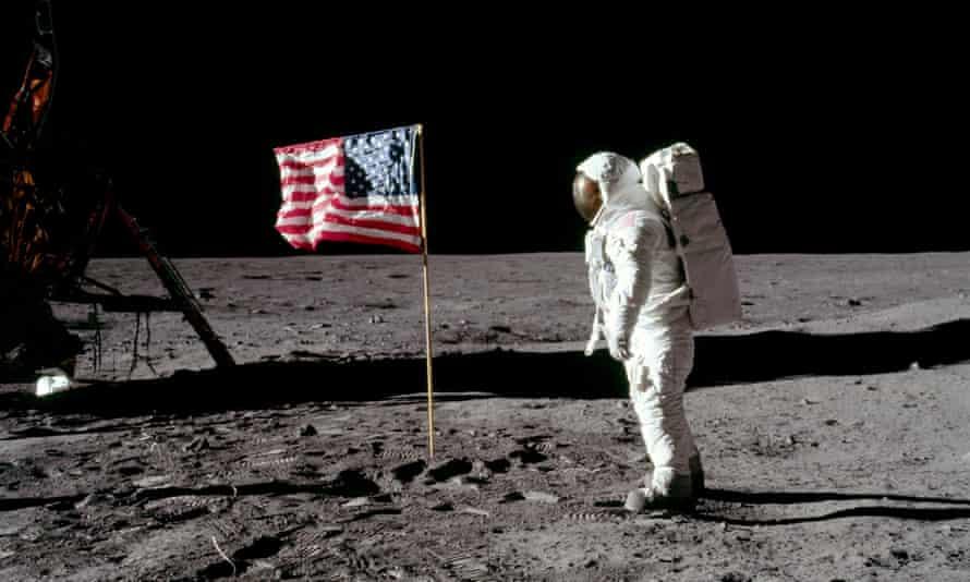 Buzz Aldrin on the moon, 20 July 1969.
