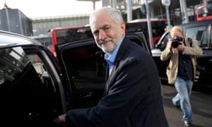 Jeremy Corbyn getting into a car