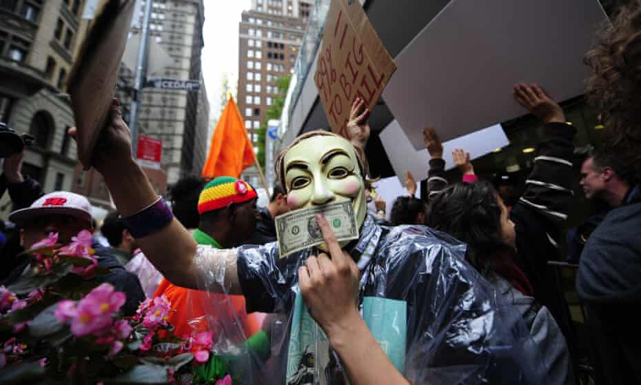 An Occupy Wall Street protest in October 2011.