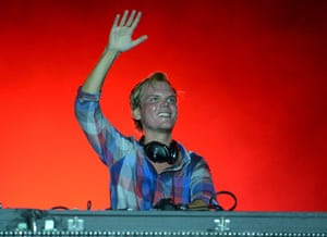 Avicii performs during the Ultra Music Festival in 2012.