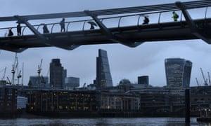 The Millennium footbridge in the City of London