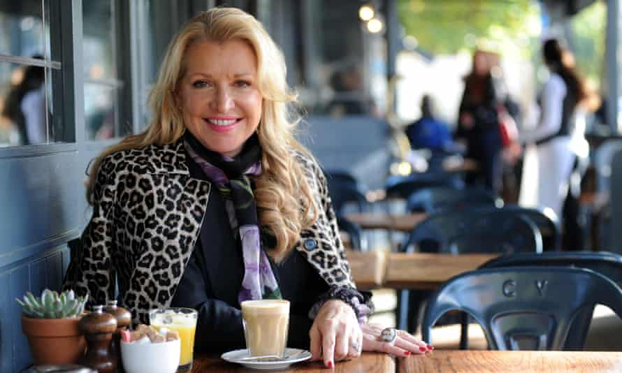 Mindy Grossman, CEO of Weight Watchers, outside a cafe
