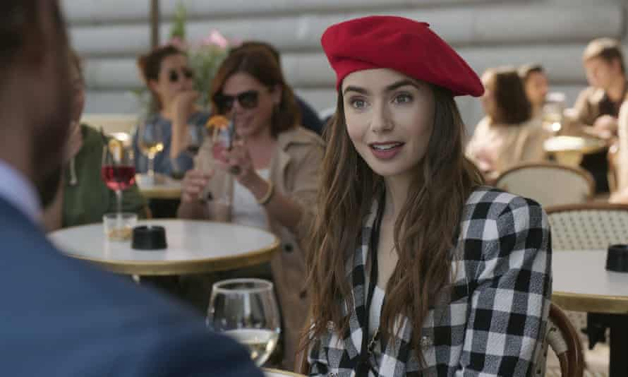 Lily Collins in Emily in Paris.