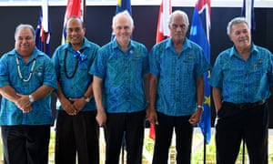 Malcolm Turnbull with Pacific Island leaders