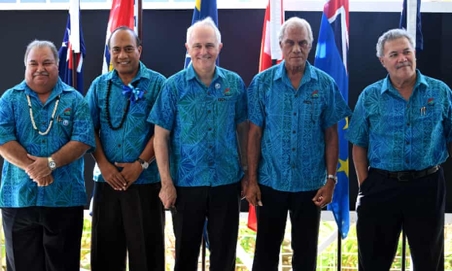 heads of state at last year's Pacific Island forum