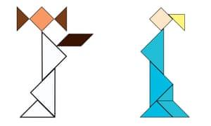 Leia and Elsa tangrams