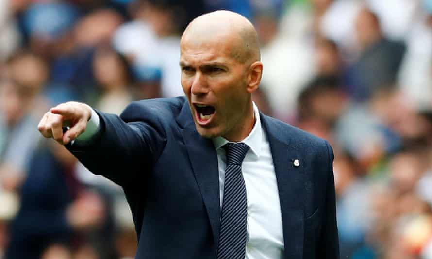 Zinedine Zidane has said he will change Madrid's shape from 4-3-3.