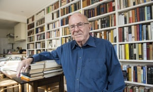 Clive James at home in Cambridge