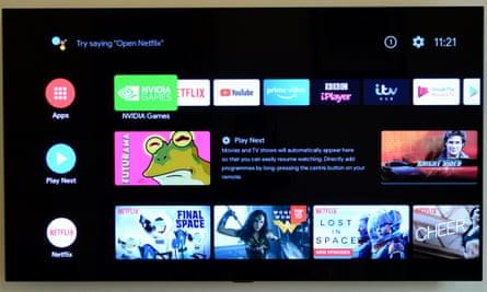 Nvidia Shield TV interface