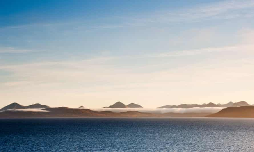 The isles of Raasay and Skye viewed from the Applecross Peninsula