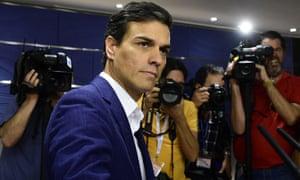 Pedro Sánchez: 'A man riven with regret.'