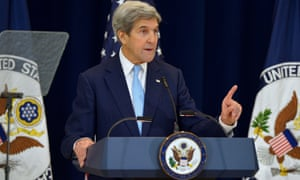 The US secretary of state, John Kerry