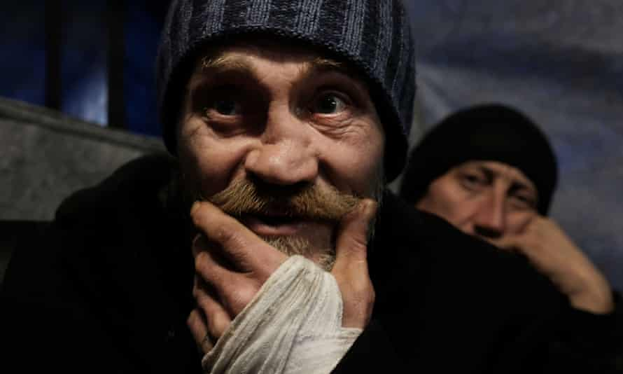 Georgy, from Siberia, at a homeless clinic in Moscow.
