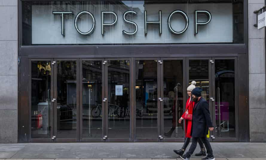 The Topshop store in Oxford Street, London