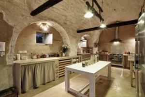 The main kitchen at Masseria Bianca.