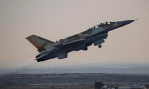 An F-16I tactical fighter jet taking off from an air force base in southern Israel.