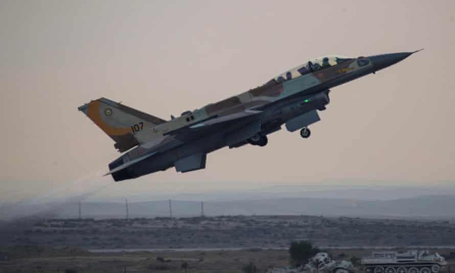 An Israeli F-16I fighter jet