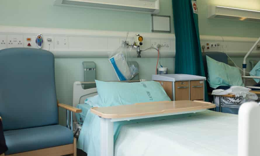 An empty NHS hospital bed