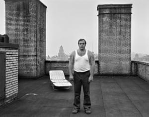 Man on roof, 1981, New York