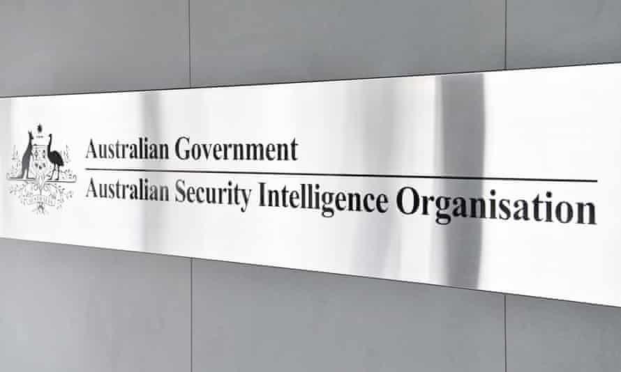 The Australian Security Intelligence Organisation (ASIO) sign