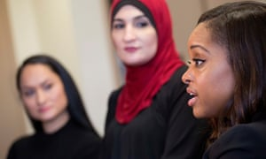 From left to right: Carmen Perez, Linda Sarsour, and Tamika Mallory.