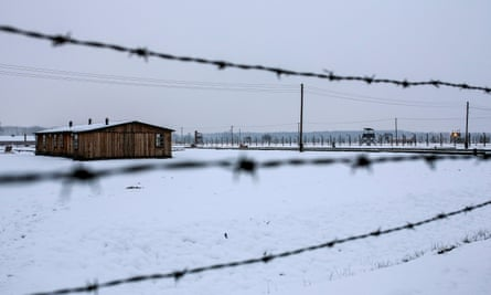 Suspect was a guard at Auschwitz, above, but claims he was assigned to a part of the camp not involved mass murders