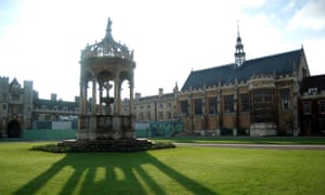 The Great Court of Trinity College Cambridge.