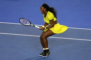 Serena Williams fights to stay in the final.