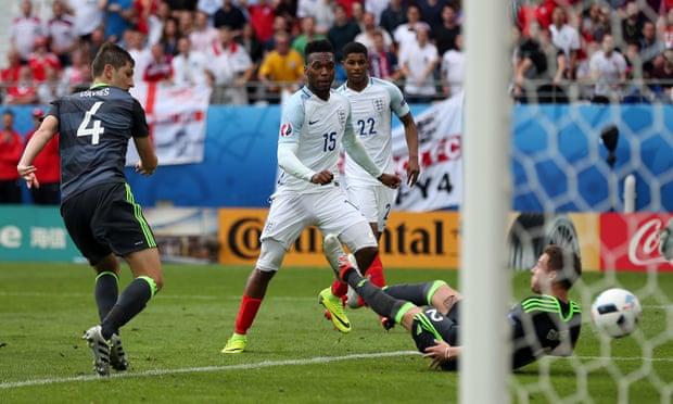 Euro 2016: Daniel Sturridge of England scores the winning goal against Wales.