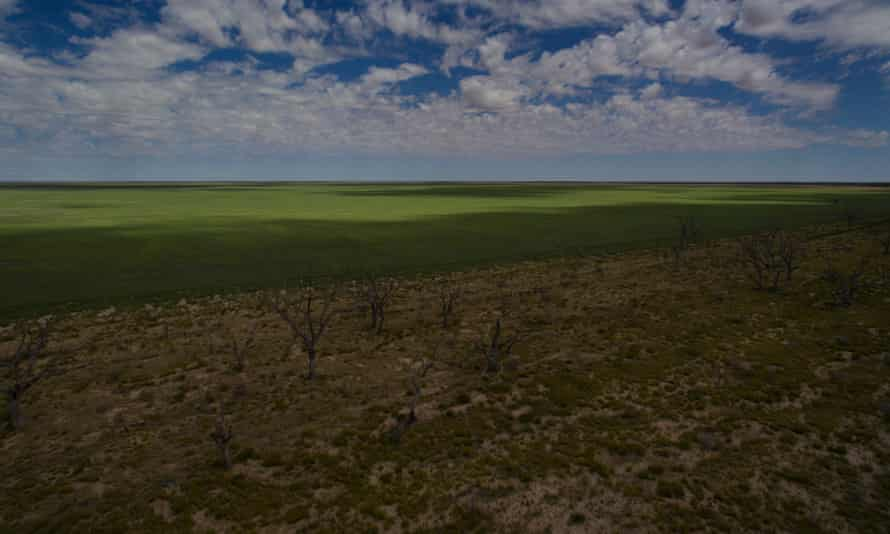 Sunset Strip on the dry shore of Menindee Lake in February 2018