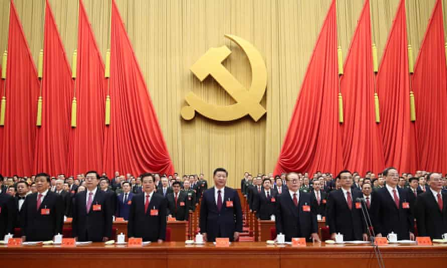 Xi Jinping at the Communist party congress in October.