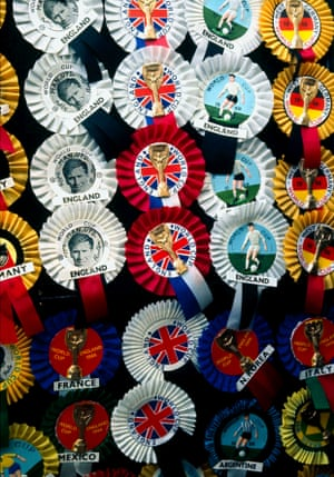 Rosettes for sale outside the ground