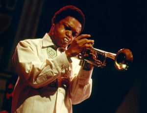 Masekela on stage in 1970