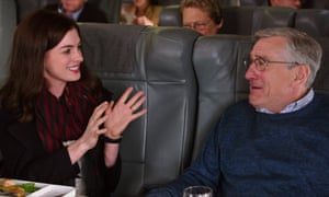 Anne Hathaway and Robert De Niro as an odd couple in The Intern.