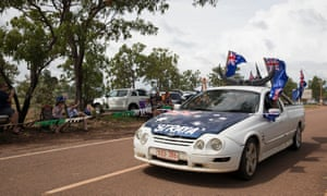 Australia Day ute muster in Darwin. 'We're a big country. We still love cars,' John Ruggiero of Automotive Marketing Australia, which caters to aftermarket retailers, says.