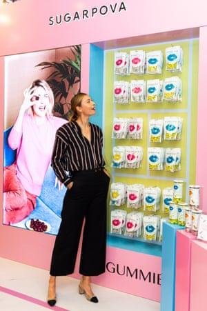 Maria Sharapova attends the Sugarpova Meet & Greet at the Candylicious store in The Dubai Mall in December 2019.