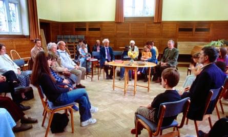 Quaker meeting in progress
