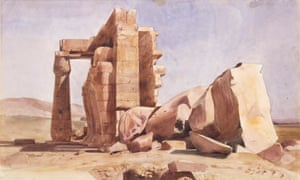 Ramasseum, Thebes 1835 by Charles Gleyre