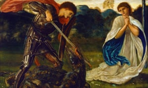 Part of The Fight – St George Kills the Dragon VI by Edward Burne-Jones.