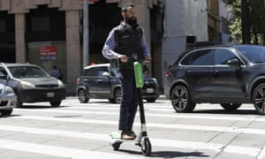A motorized scooter in San Francisco. The city has threatened to impound devices.