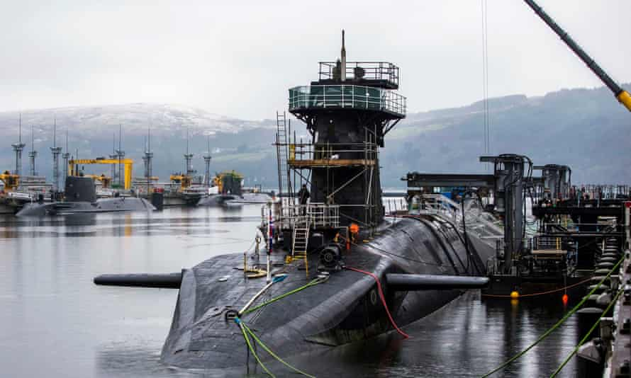 HMS Vigilant, one of the four Trident nuclear submarines.