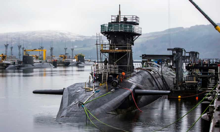 HMS Vigilant, one of the UK's vanguard-class nuclear warhead carrying submarines.