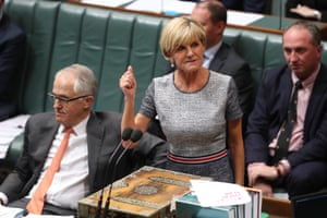 One more of foreign Minister Julie Bishop which perfectly captures her reaction to a Labor question on the Julie Bishop Glorious Foundation.