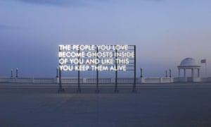 An installation Montgomery created in Bexhill-on-Sea, lit with recycled sunlight.