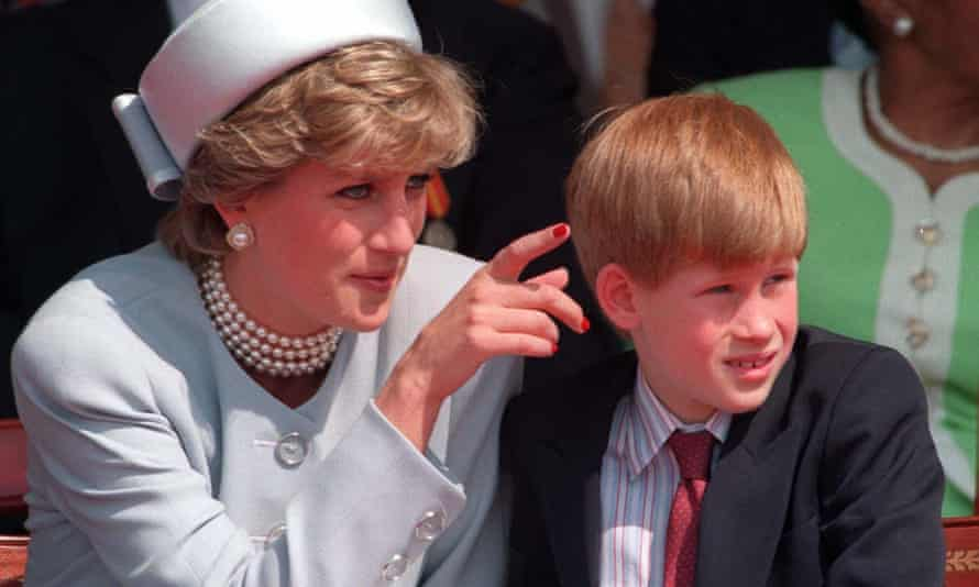Diana with Harry in 1995