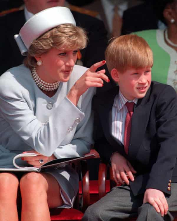 Prince Harry with his mother in 1995
