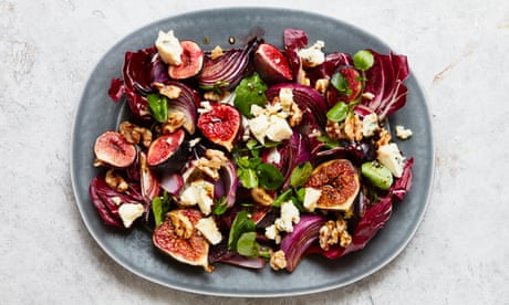 Thomasina Miers' recipe for fig, blue cheese and walnut salad